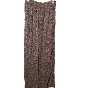 H&M women's pull on brown palazzo pants 6